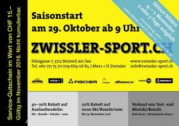 Saison Start bei Zwissler-Sport